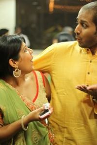 aditi & srini. they also know each other. for which i take full credit.